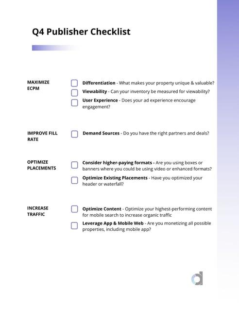 Q4 Publisher Checklist-2