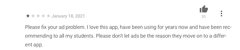 please fix your ad problem
